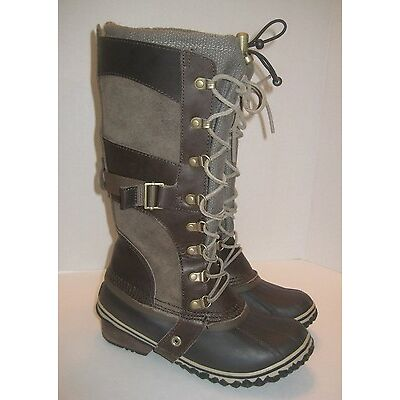 SOREL CONQUEST CARLY BOOT CAMO BROWN WOMENS SIZE 6.5