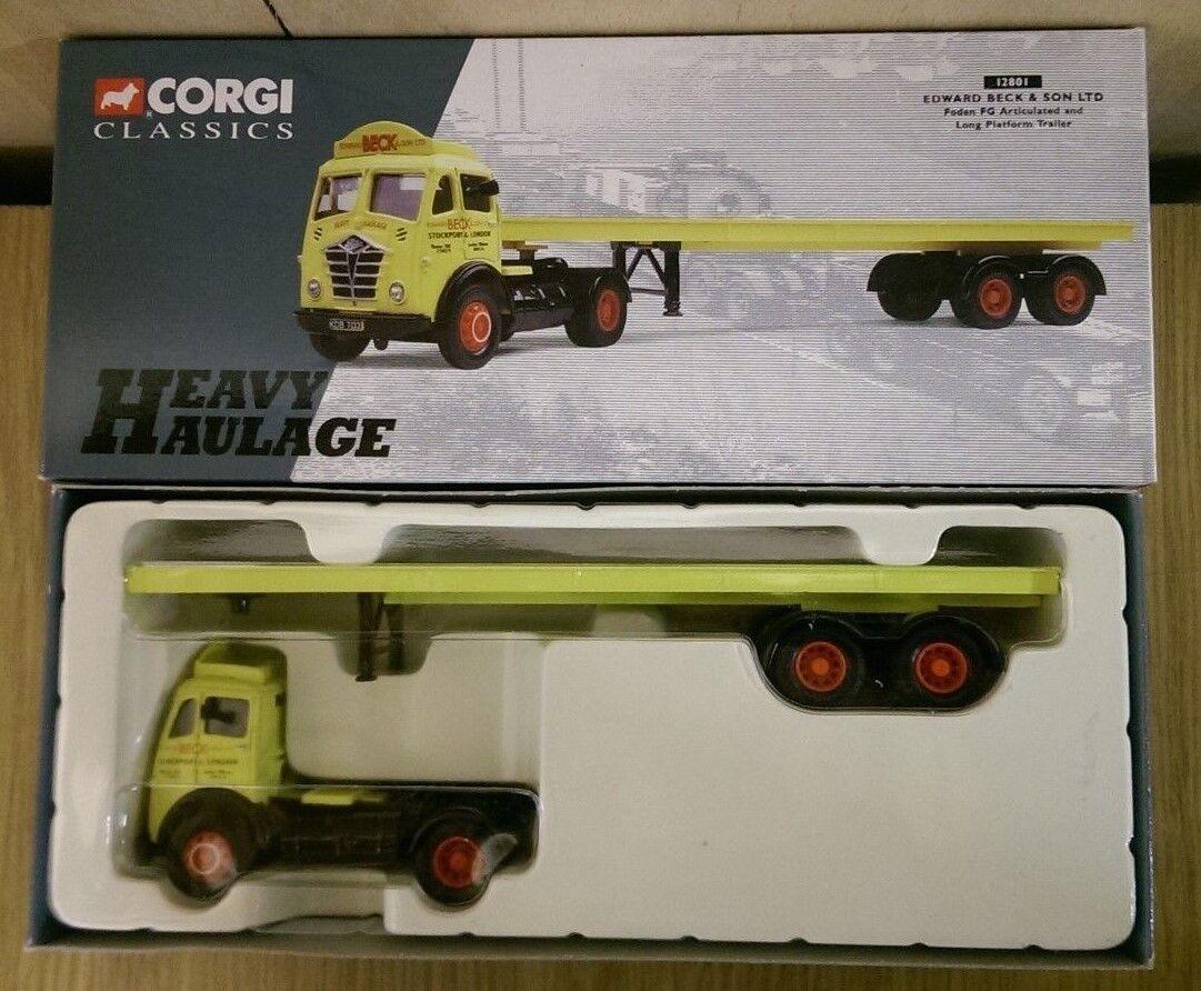 Corgi 12801 Foden FG Artic & Long Platform Trailer Ltd Ed No. 0002 of 6700