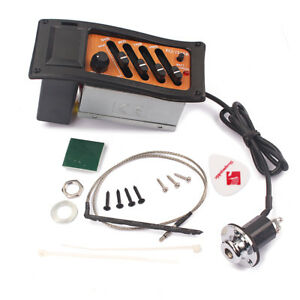 Guitar-Pickup-EQ-7545R-4-Band-Equalizer-Amplifier-for-Cigar-Box-Guitar-Parts