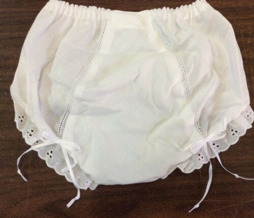 ICM BATISTE DOUBLE SEAT PANTY WITH EMBROIDERED EYELET EDGING-VARIOUS SIZES