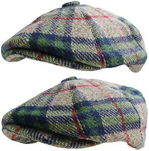 Homme ou garçon tartan carreaux baker boy hat pays plat casquette à visière newsboy cap new