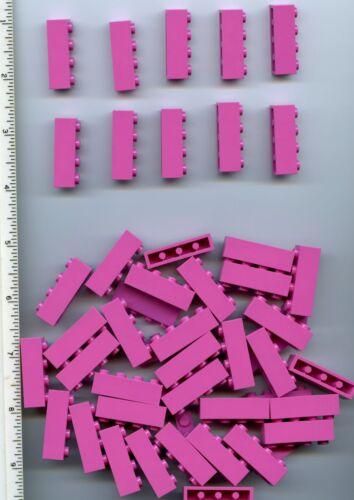 LEGO x 50 Dark Pink Brick 1 x 4 NEW bulk lot Friends