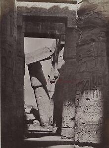 Egitto Karnak Foto Beato Albumina IN Piccolo Formato 9x13cm