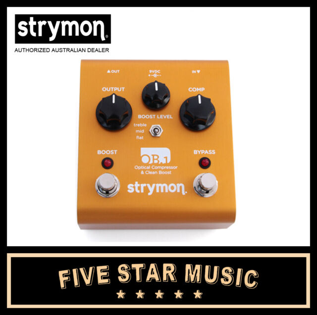 STRYMON OB1 OPTICAL COMPRESSOR & CLEAN BOOST OB-1 GUITAR EFFECTS PEDAL NEW