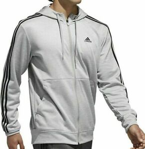 Adidas-Men-s-Tech-Full-Zip-Fleece-Hoodie-Performance-Hooded-Track-Jacket