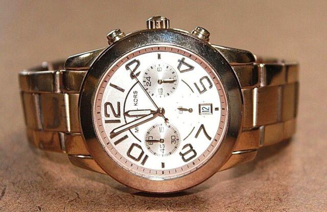 c1fd2a2750fc Michael Kors Mercer Rose Gold Tone Stainless Women s Chrono Watch MK-5727   03LA