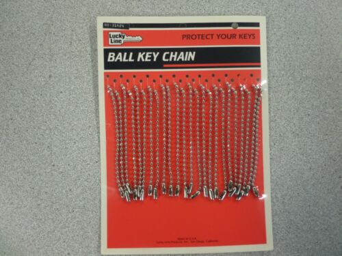 LUCKY LINE 31424 4 1/2 LONG BALL KEY CHAIN KEY RING PACK OF 24