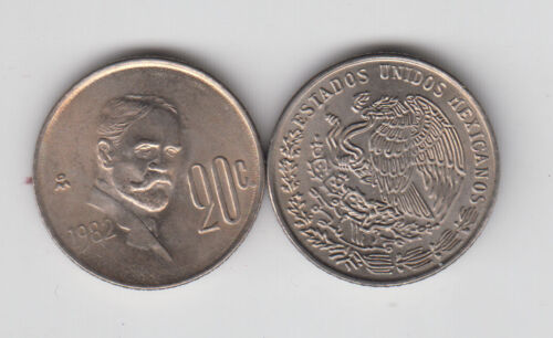 MEXICO 20 Centavos 1982 KM442 BU grade from bank bag
