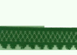 1 M Décoratif Dentelle 50mm Vert Foncé 60010
