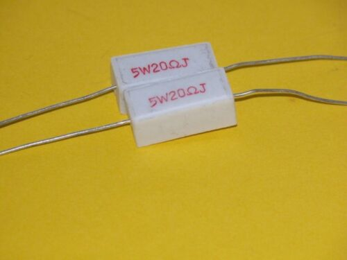 2pk 5W 20 Ohm 5/% Resistors
