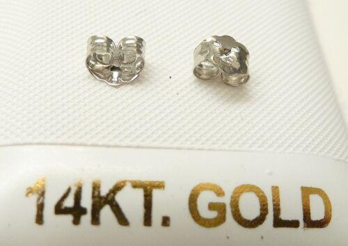 14kt White Gold Basket Set 6MM Cubic Zirconia Earrings..GIFT BOX FREE SHIPPING
