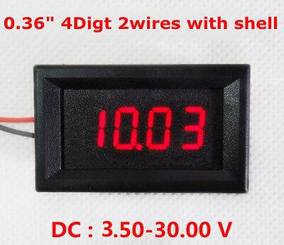DC 3.50-30V 4 Digital LED Volt Voltage Meter Voltmeter 5v 12V 24V car Battery R
