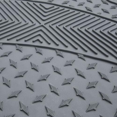 4pcs Floor Mats for Auto Car SUV Van Semi-Custom Trimmable Vinyl Floor Mat 3 Row