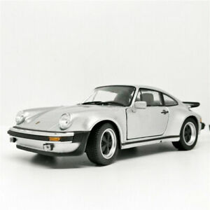 Welly-1-24-1974-Porsche-911-Turbo-Silver-Diecast-Model-Racing-Car-New-in-Box