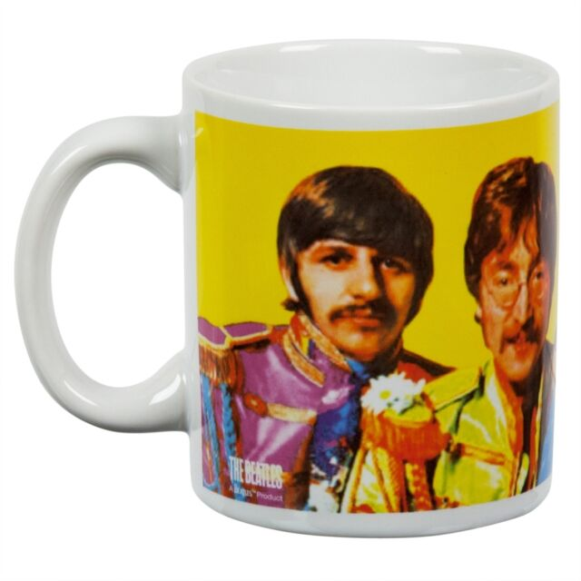 The Beatles Sgt Pepper Color Sculpted Coffee Mug by Boelter