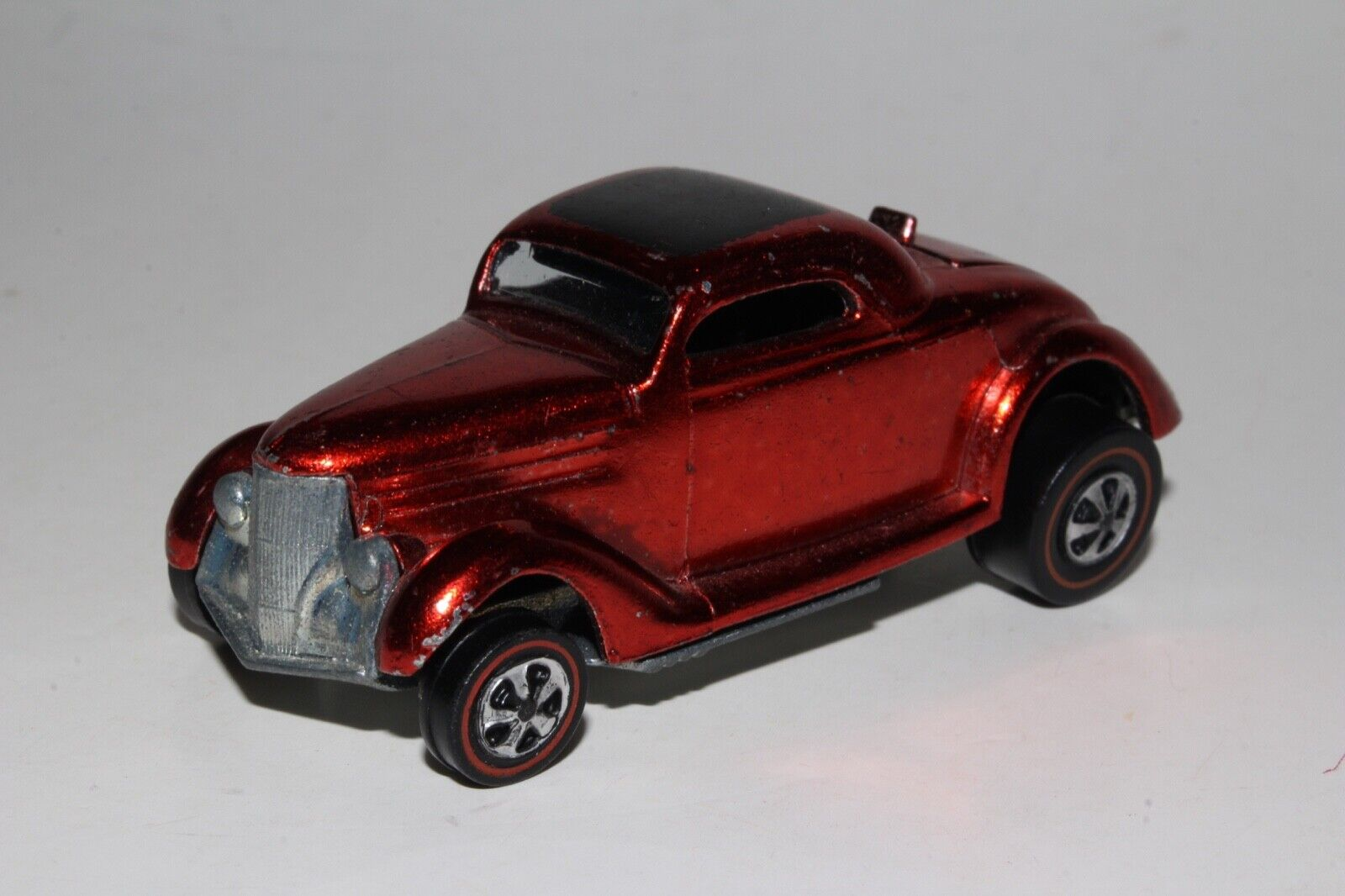 Hot Wheels rojoline Clásico '36 Ford Coupé, Rojo Metálico, Excelente, Original
