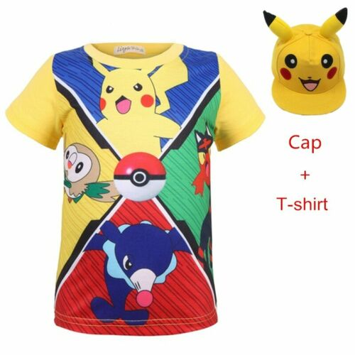 Boy pokemon t Shirt for Children Cotton Summer 2018 shirt 3D Print Pikachu