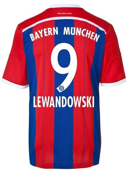 Trikot Adidas FC Bayern 2014-2015 Home - Robert Lewandowski  FCB    Neuer Stil