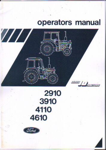 1983 Ford 2910/3910/4110/4610 Series 10 Tractor Operator Manual ...