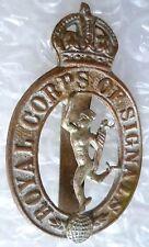Badge- Royal Corps of Signal Cap Badge KC Bi-Metal