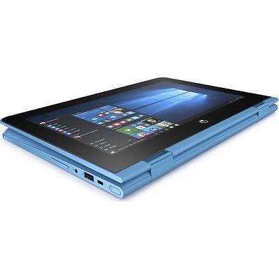 """HP Stream x360 11.6"""" 2 in 1 Aqua Blue Windows 10 2 GB RAM 32 GB eMMC"""
