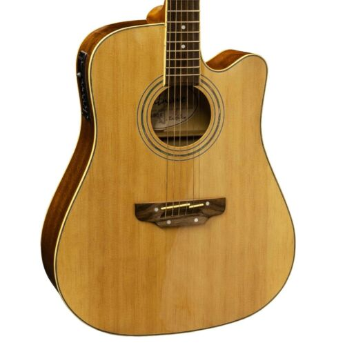 Earthfire GA3090E Dreadnought Electro Acoustic Guitar Steel Strings Cutaway NL c