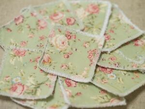 Green Floral Make Up Remover Pad Reusable Face wipe eco friendly make up remover wipe
