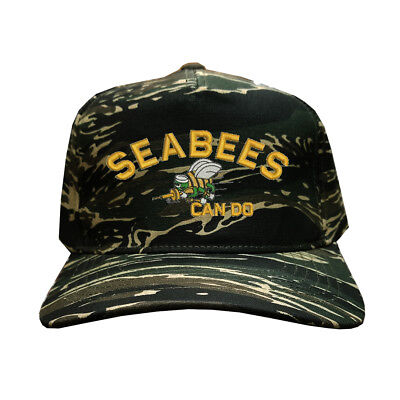 "Navy USN Sea Bees /""Can Do/"" Blue Embroidered Cap Hat Seabees U.S"
