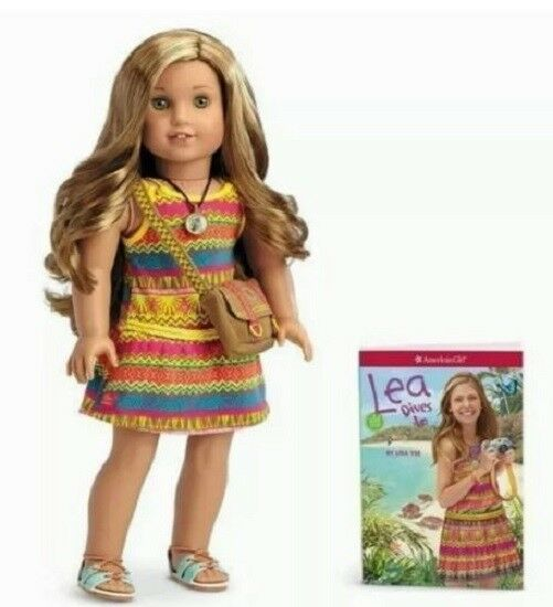 American Girl Doll Lea Clark GOTY Girl of the Year 2016 and Book NEW