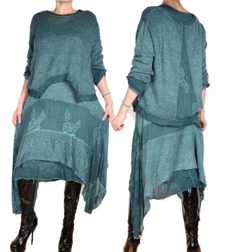 2tlg Winter 48 50 46 Maxi 44 Schal Pullover Lagenlook Strick L Xl Kleid Tunika TrwTxvq5