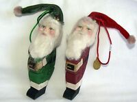 TOPSY SANTA WOOD PUZZLE Christmas Ornaments- Set of 2 Katherine's Collection