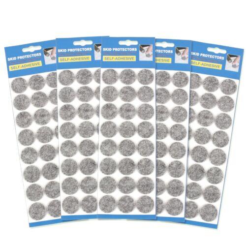120x GREY FELT FURNITURE PADS 29mm Circular Adhesive Floor Protection ANTI SKID