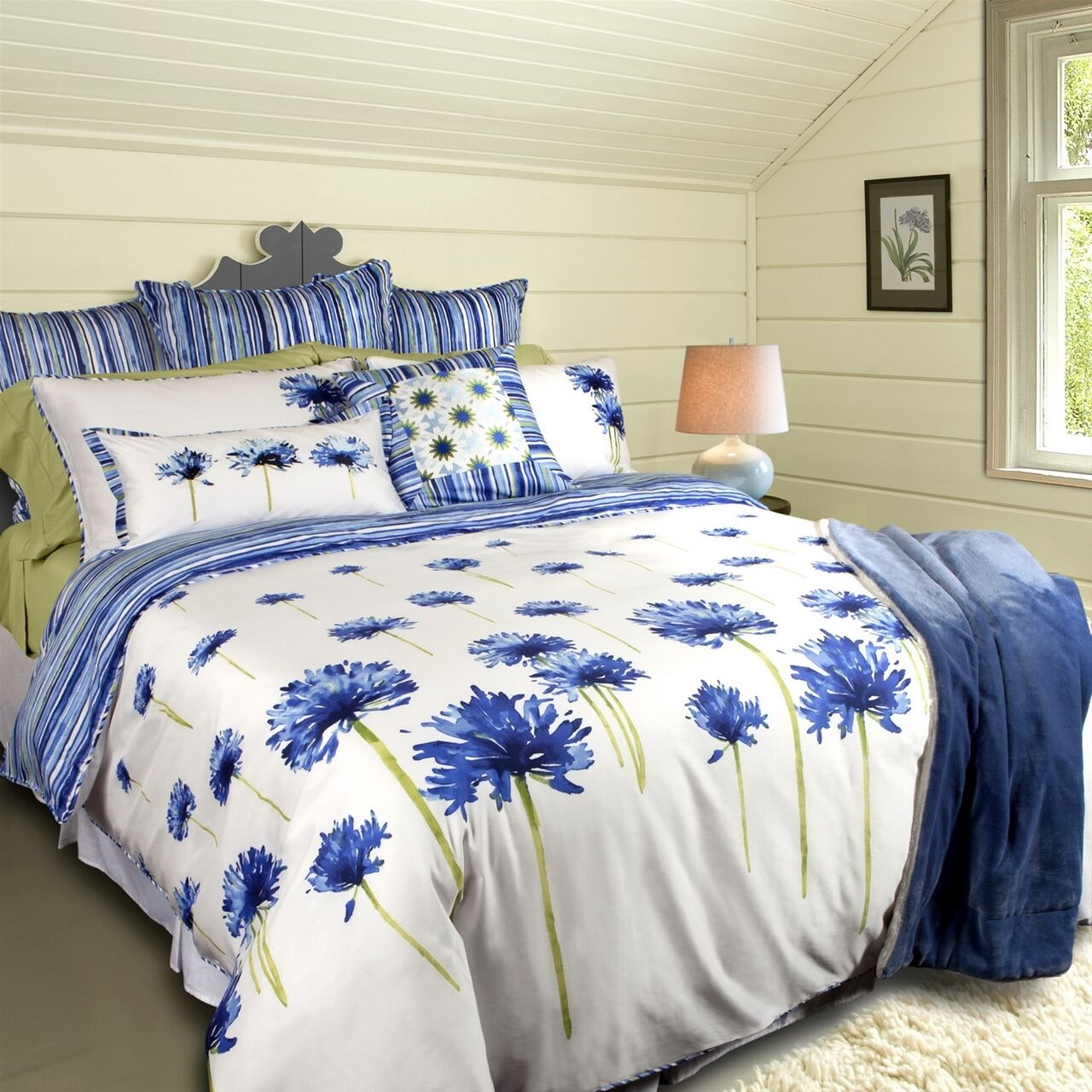 Agapanthus Blooms Luxury 300TC TENCEL Duvet Cover Set
