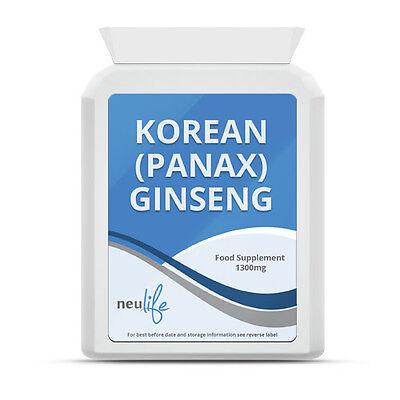 Korean (Panax) Ginseng - 1300mg