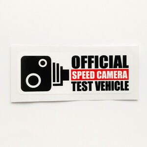 Speed-Camera-Test-Vehicle-Sticker-Funny-Vinyl-Decal-Car-Window-Bumper-Van-Turbo