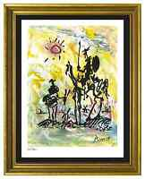 """Pablo Picasso Signed & Hand-Numbered Limited Ed """"Don Quixote"""" Lithograph Print"""