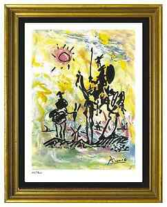 Pablo-Picasso-Signed-Hand-Numbered-Ltd-Ed-034-Don-Quixote-034-Litho-Print-unframed