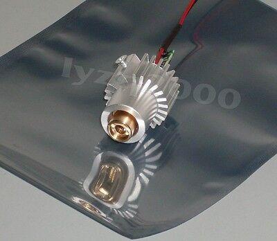 Real 100mw 532nm green laser module with heatsink , glass lens