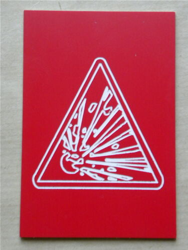 """plaque gravée /""""RISQUE EXPLOSION/"""" PICTO 50x75 SIGNALISATION RISQUE ET OU DANGER"""