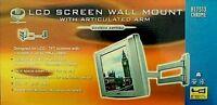 B-TECH BT7512 CHROME FINISH QUALITY VESA 100 SCREEN WALL BRACKET MOUNT WITH ARM