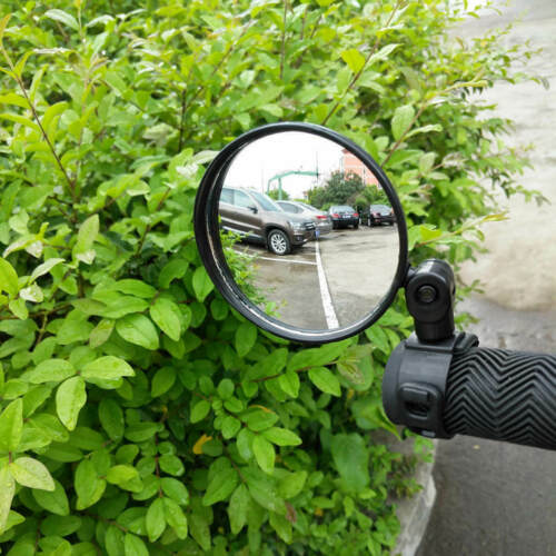 For Cycling Bike Bicycle Handlebar Flexible Safe Rearview Rear View Mirror 360°
