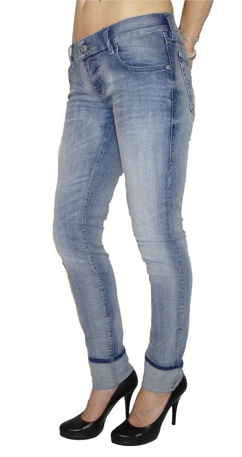 Diesel Damen Stretch Jeans GRUPEE 0667E Superslim Skinny blau NEU