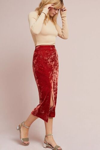 Velvet Maeve Soft Mid 10 Gonna Calf Midi vintage Nwt Anthropologie ispirata 12 w4qC5xqt