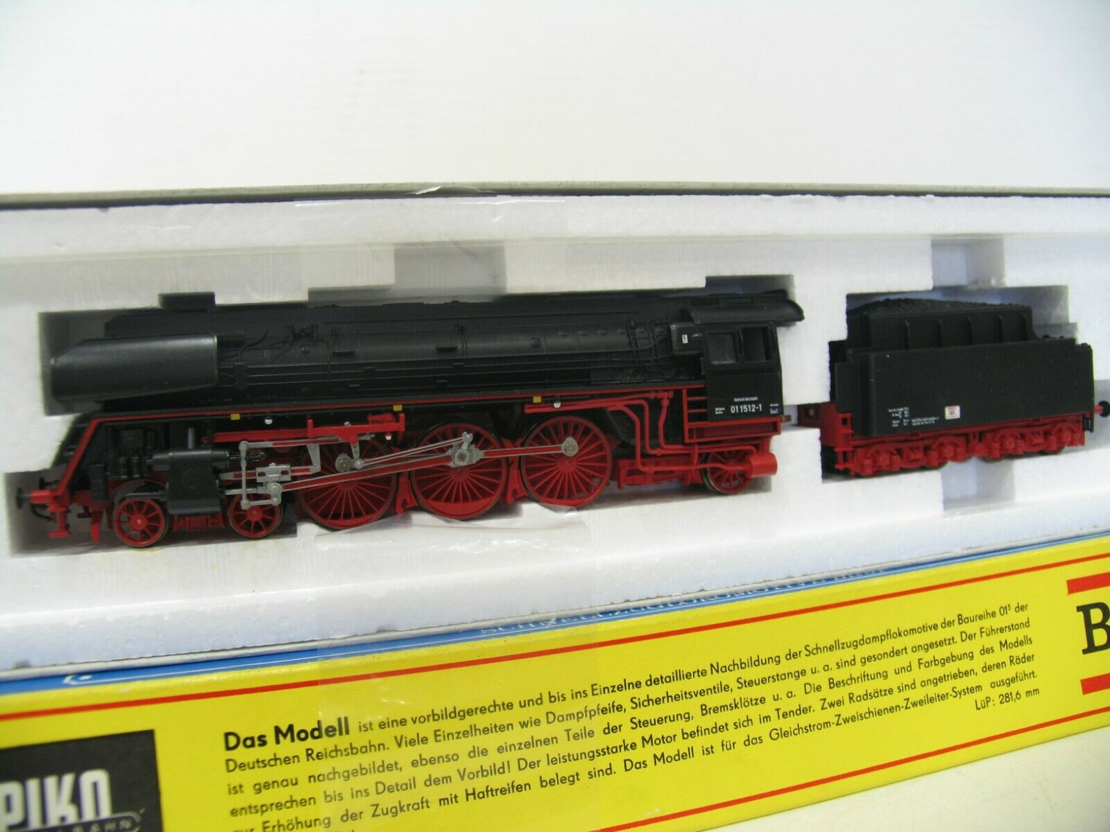 Piko Steam Locomotive BR 01 1512-1 Dr Conversion Roco Wheelset RP25 Twisted DO357