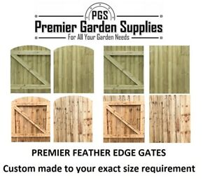 Made To Measure Wooden Garden Gate Feather Edge Treated