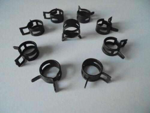 10x Federbandschelle 6//8mm W1 Kühlerschlauch Kühlwasserschlauch
