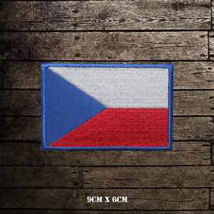 Czech-Republic-National-Flag-Embroidered-Iron-On-Sew-On-Patch-Badge