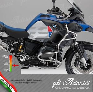 2 adesivi fianco serbatoio moto bmw r 1200 1250 gs. Black Bedroom Furniture Sets. Home Design Ideas