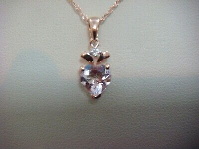 Details about  /1Ct Round Cut Peach Morganite Diamond Pendant Necklace Chain 14k Rose Gold Over