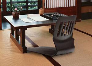 Floor Chair Tatami Black Chair Japanese Zaisu Chair Asian